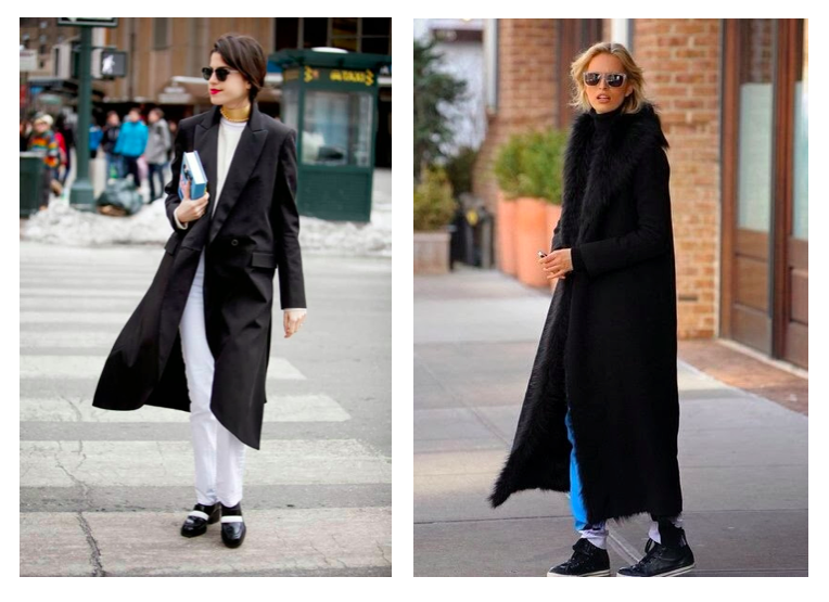 new york fashion week street style long black coat man repeller cugfbhn