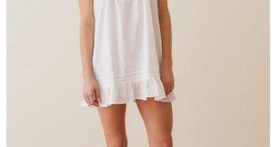 white cotton nightgown** - el287 laura wshstqr