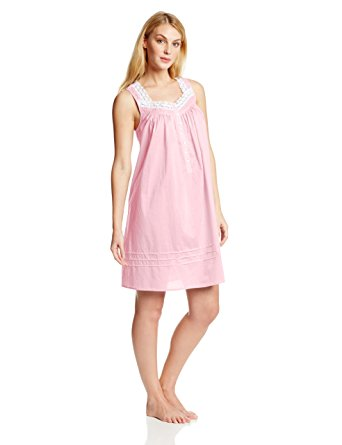nightgown eileen west womenu0027s 36 inch solid short cotton lawn gown, pink, x-small zyzfxlg