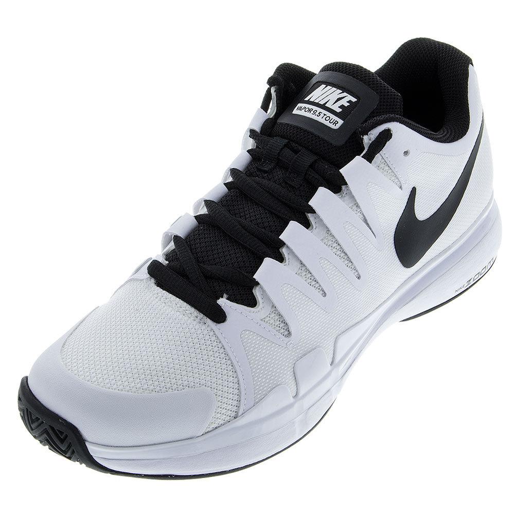 nike nike menu0027s zoom vapor 9.5 tour tennis shoes white and black rvhzjwv