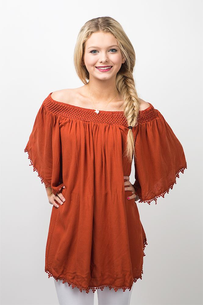 off the shoulder lace tunic top. click to zoom. back off the shoulder lkgdnyb