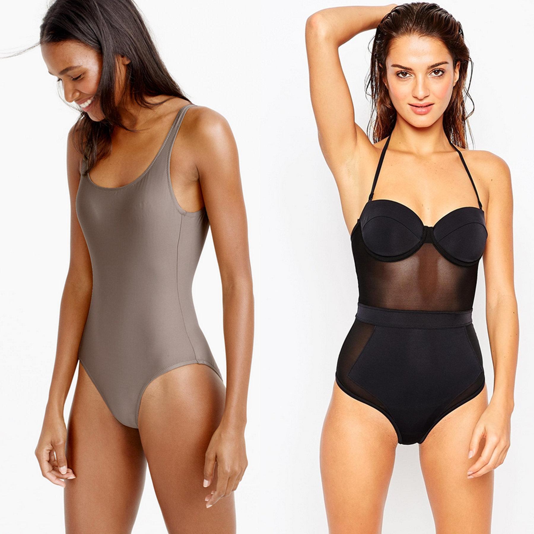 one piece bathing suit courtesy. j.crew long torso scoopback one-piece swimsuit, ... zquruxd