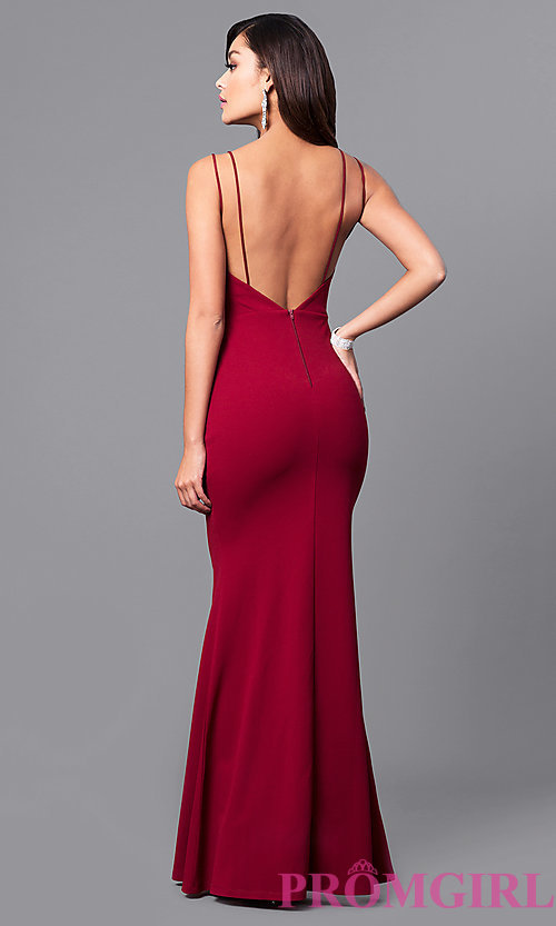 open back dresses image of v-neck long open-back prom dress. style: sy- dhrdhgs