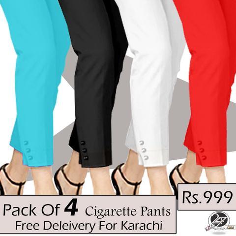 pack of 4 cigarette pants (free delivery for karachi) vpgxzhd