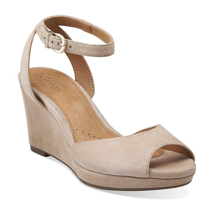 palmdale dasha in tan nubuck - womens sandals from clarks | womens wedges gzyadxb