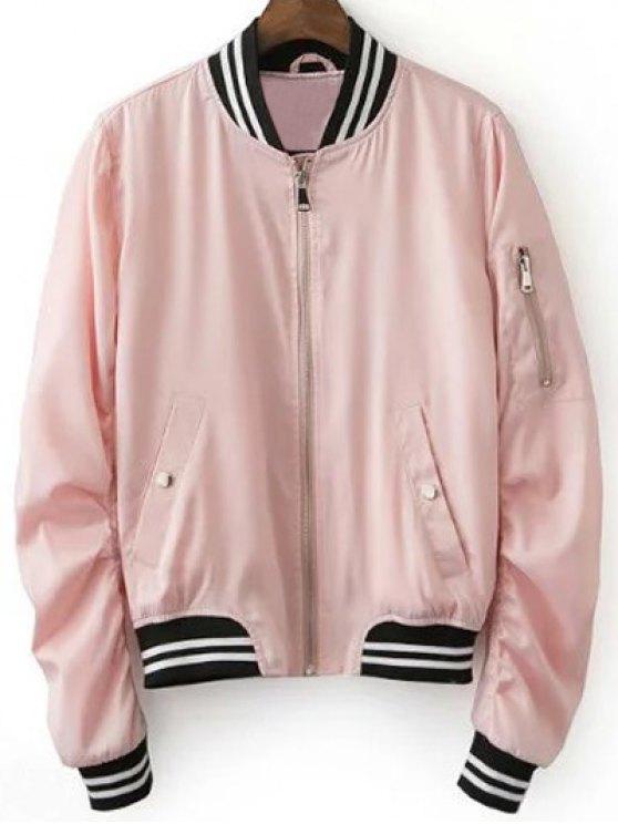 pink jacket fancy pink baseball jacket - pink s mhaqall