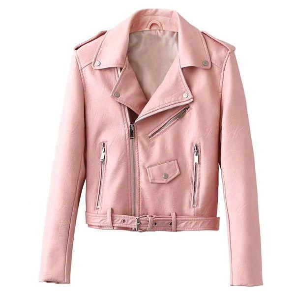 pink jacket yoins pink leather punk jacket (75 cad) ❤ liked on polyvore featuring wabpzbu