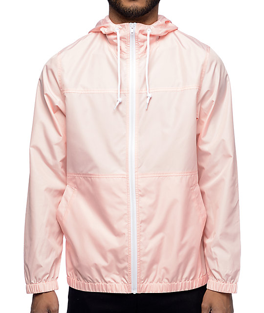 pink jacket zine marathon pink windbreaker jacket gkrniql
