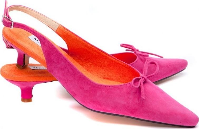 pink/orange suede kitten heels mmgtwuf