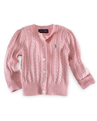 pink sweater ralph lauren childrenswear girlsu0027 cable cardigan sweater - big kid_0 irfjmhy