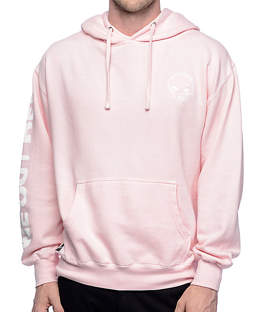 pink sweatshirts ripndip get outer here light pink hoodie znhmtnw