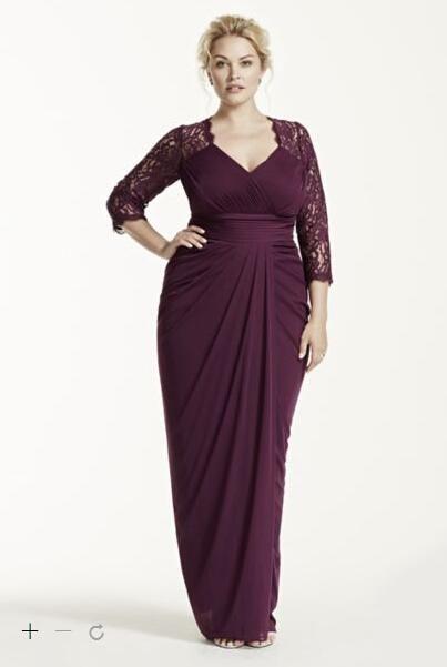 plus size bridesmaid dresses long sleeve v neck stretch taffeta dress skirt plus size style 061904181 bridesmaid jzramaf