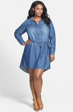 plus size denim dress find this pin and more on plus and curvy ... my size !! npmbolt