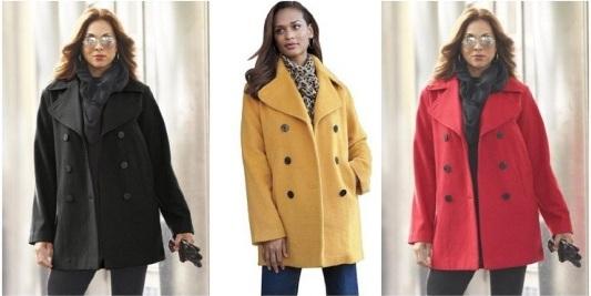plus size pea coat classic wool pea coats plus size lkebmtv