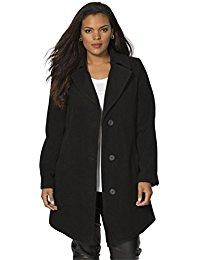 plus size pea coat roamans womenu0027s plus size short wool coat fdrovtq