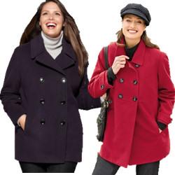 plus size pea coat womenu0027s plus size pea coats dshigyj