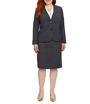 plus size suits calvin klein plus 2-button jacket u0026 pencil skirt xlfqxct