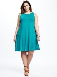 plus size sun dresses jersey plus-size swing dress klzwzkj