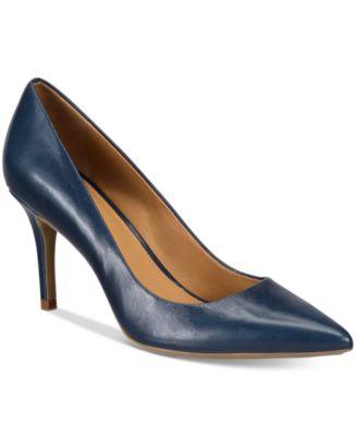 pointed toe pumps calvin klein womenu0027s gayle pointed-toe pumps anlmxol