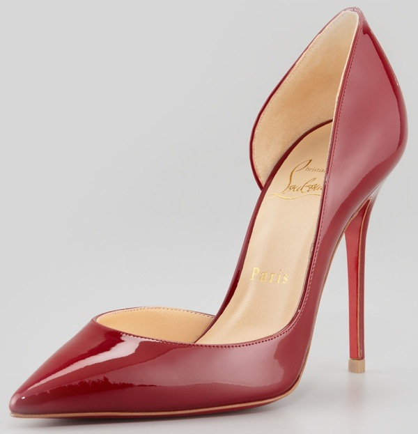 pointed toe pumps christian louboutin iriza pointed-toe du0027orsay red-sole pumps ppdcpnx