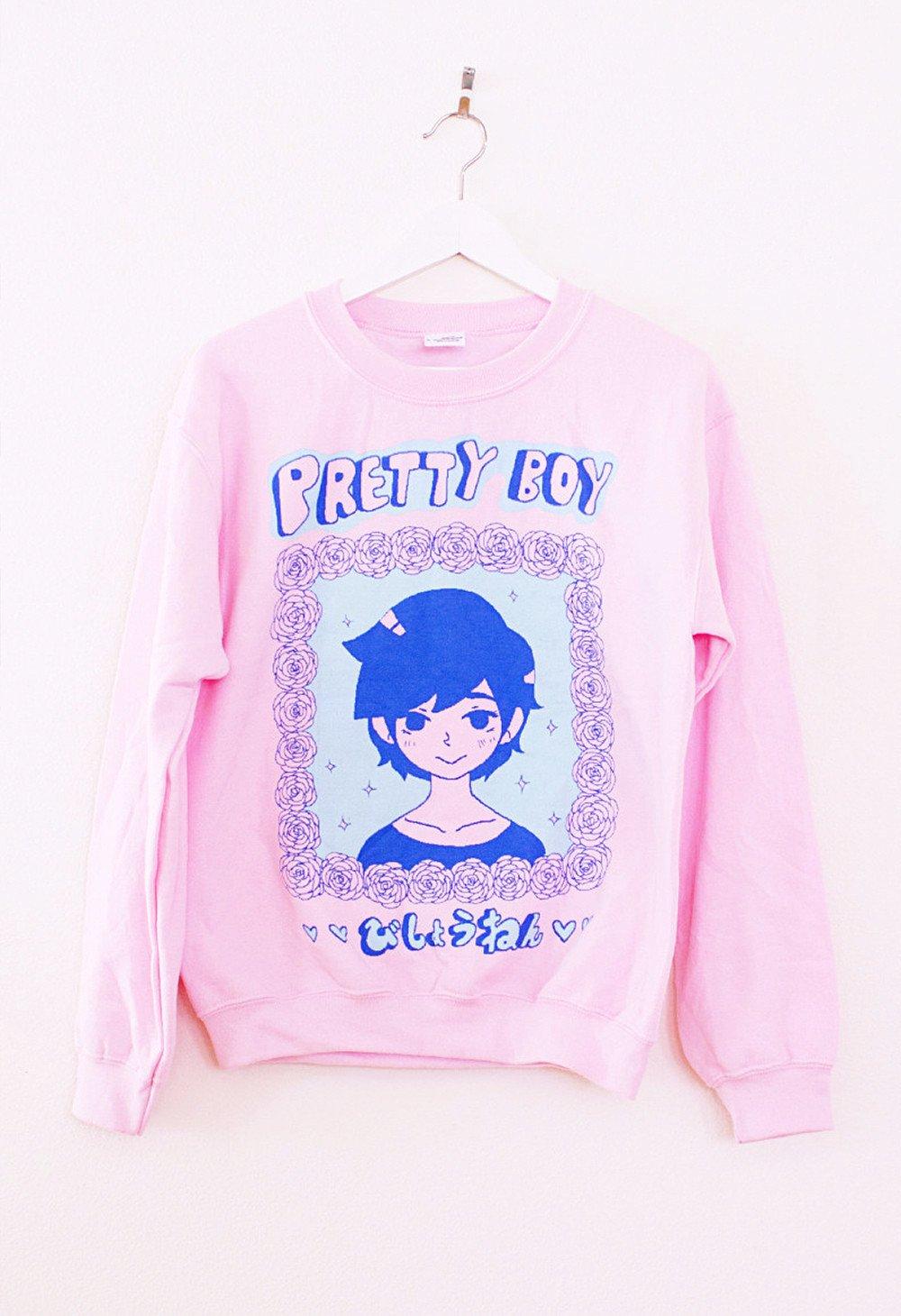 prettyboy pink sweater ... knhuvfx