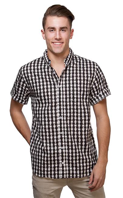 punisher gingham short sleeve shirt ssuojlr