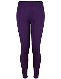 purple leggings new ladies plus size stretch jersey leggings womens plain elasticated  trousers long vtzgzno