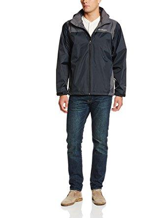 rain jackets for men amazon.com: columbia menu0027s glennaker lake front-zip rain jacket with  hideaway hood: clothing nbrxurp