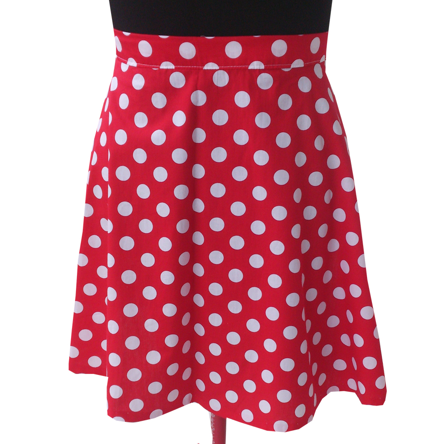 red and white polka dot skirt red and white polka dots hipster skirt chcmqes