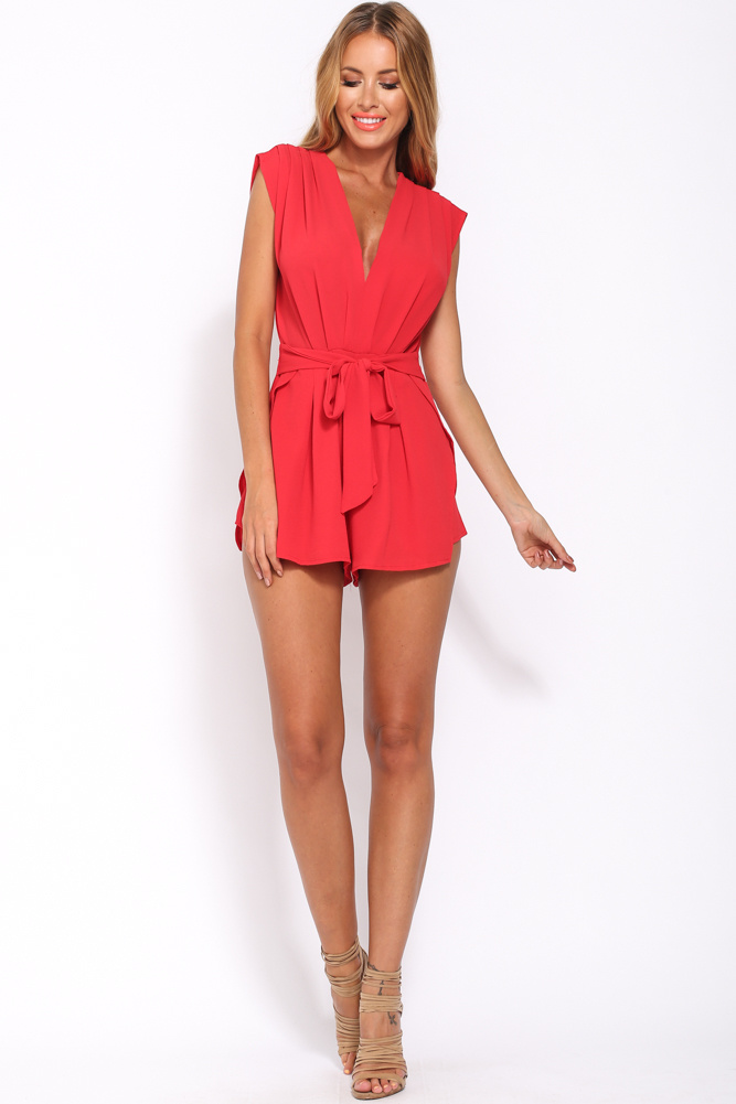 red playsuit thanks officer playsuit red tnzlyvu