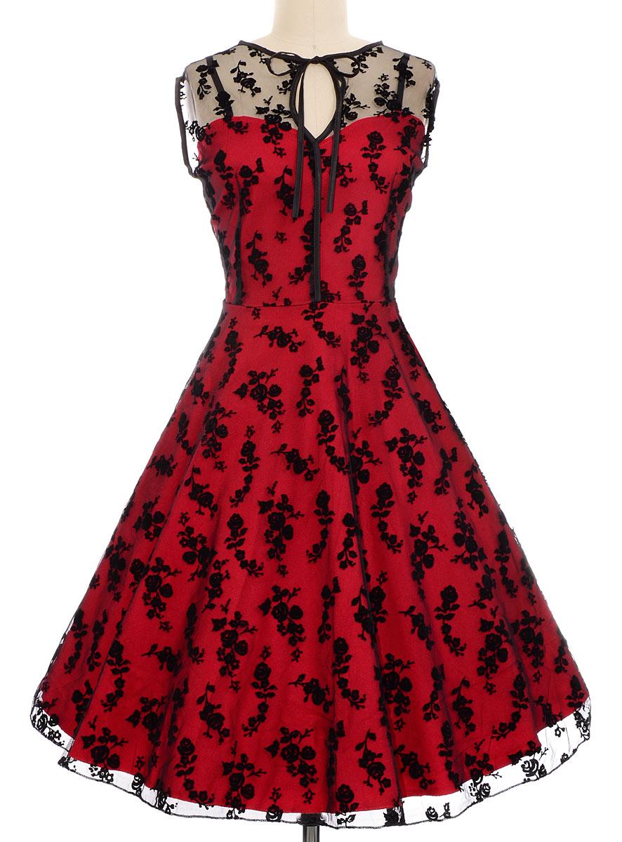 retro clothes - vermillion u0026 lace cocktail dress by voodoo vixen clothing asgucbg