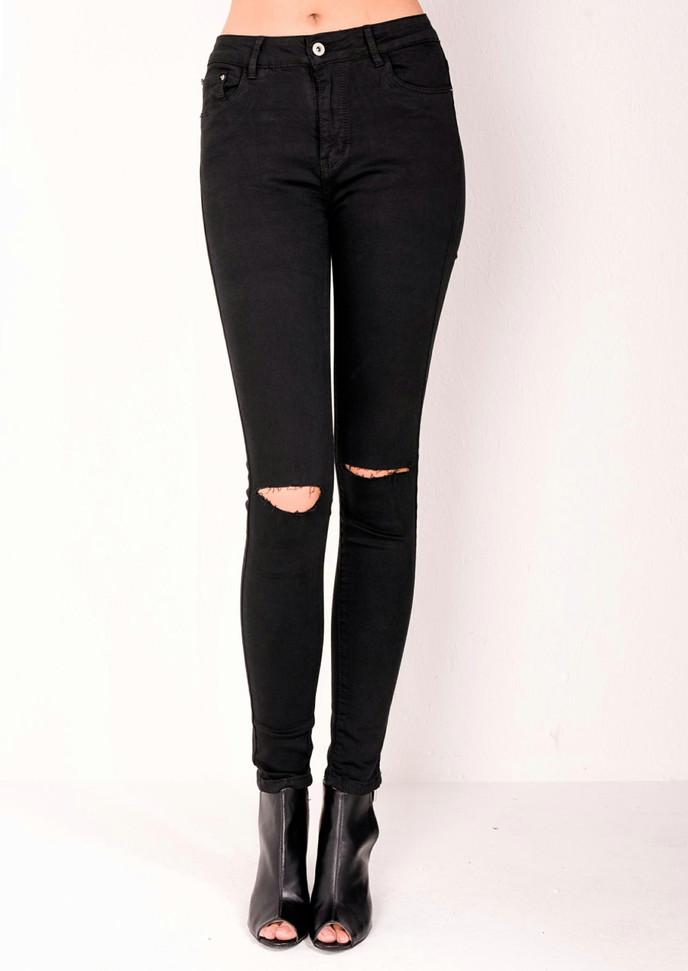 ripped black skinny jeans high waisted ripped knee classic skinny jeans black zsiqpby