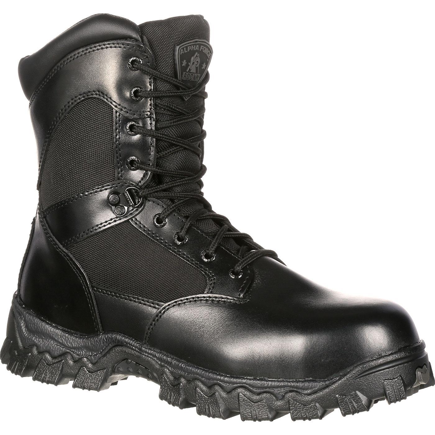 rocky boots rocky alphaforce zipper waterproof duty boot, , large rkpeilz