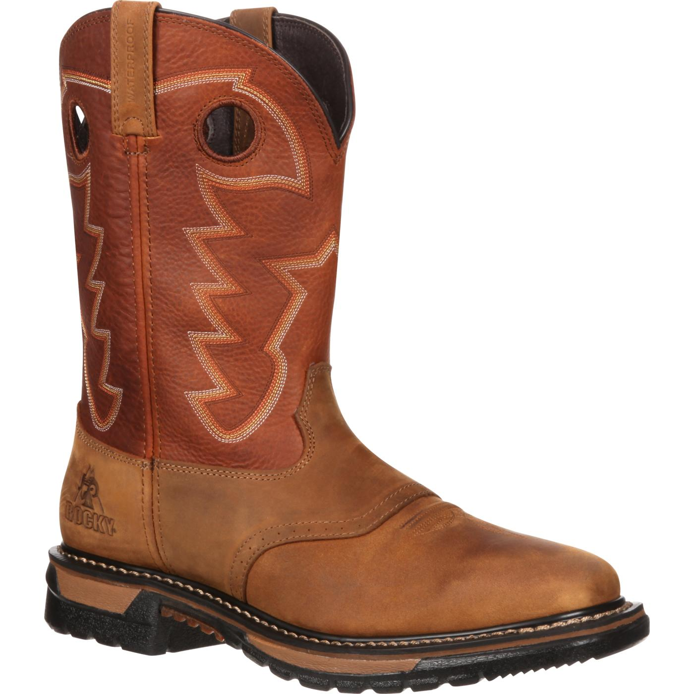 rocky boots rocky original ride waterproof western boot, , large utkvxcv