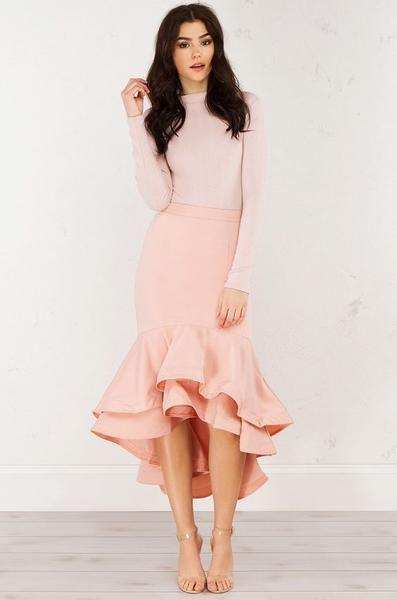 ruffle dress modest pink ruffled dress fpsawrh
