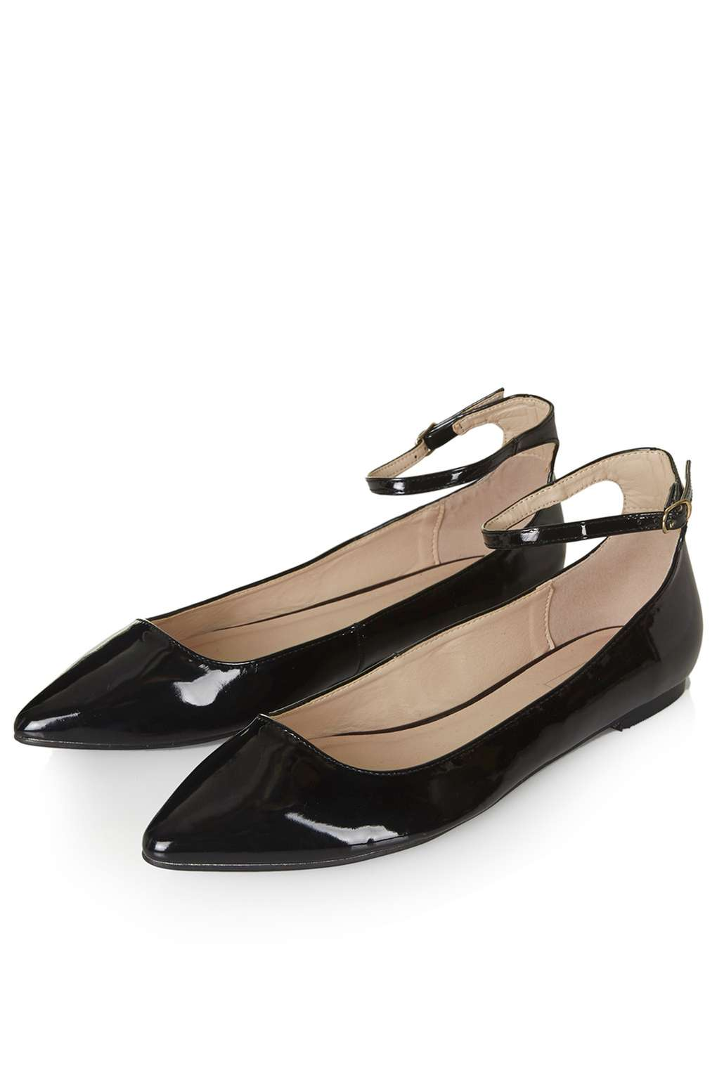 saloon ankle strap flats - topshop mhnqqgg