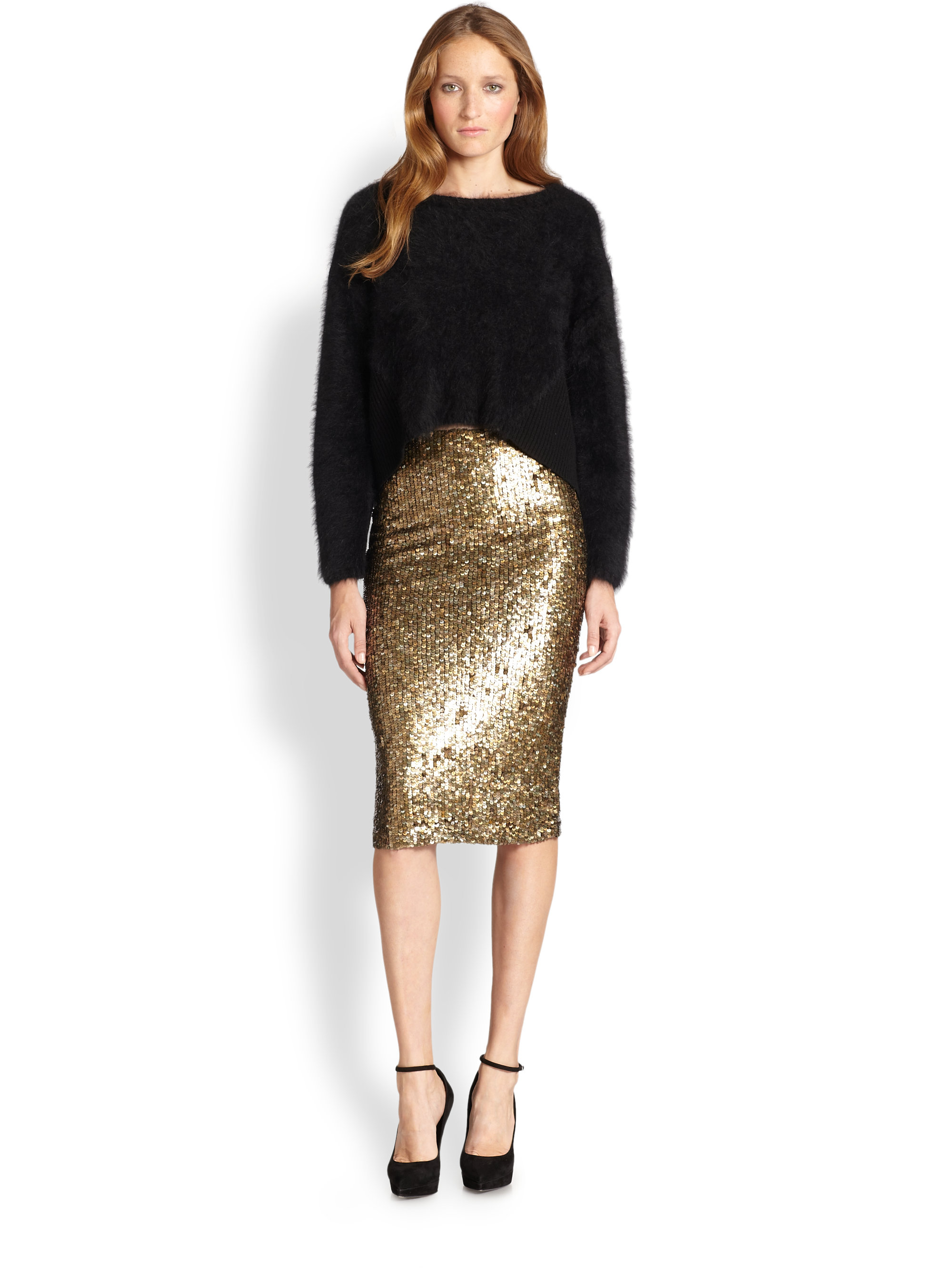 sequin pencil skirt ypbltbo