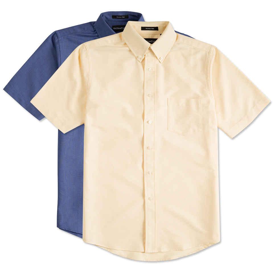short sleeve shirt custom ultra club short sleeve wrinkle-free oxford dress shirt - design short mwqhxvv