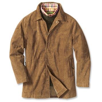 suede jacket sueded-leather car coat onarabr