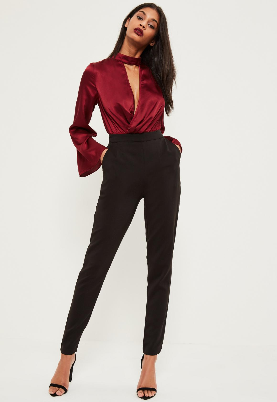 tall black cigarette trousers. previous next aedreqx