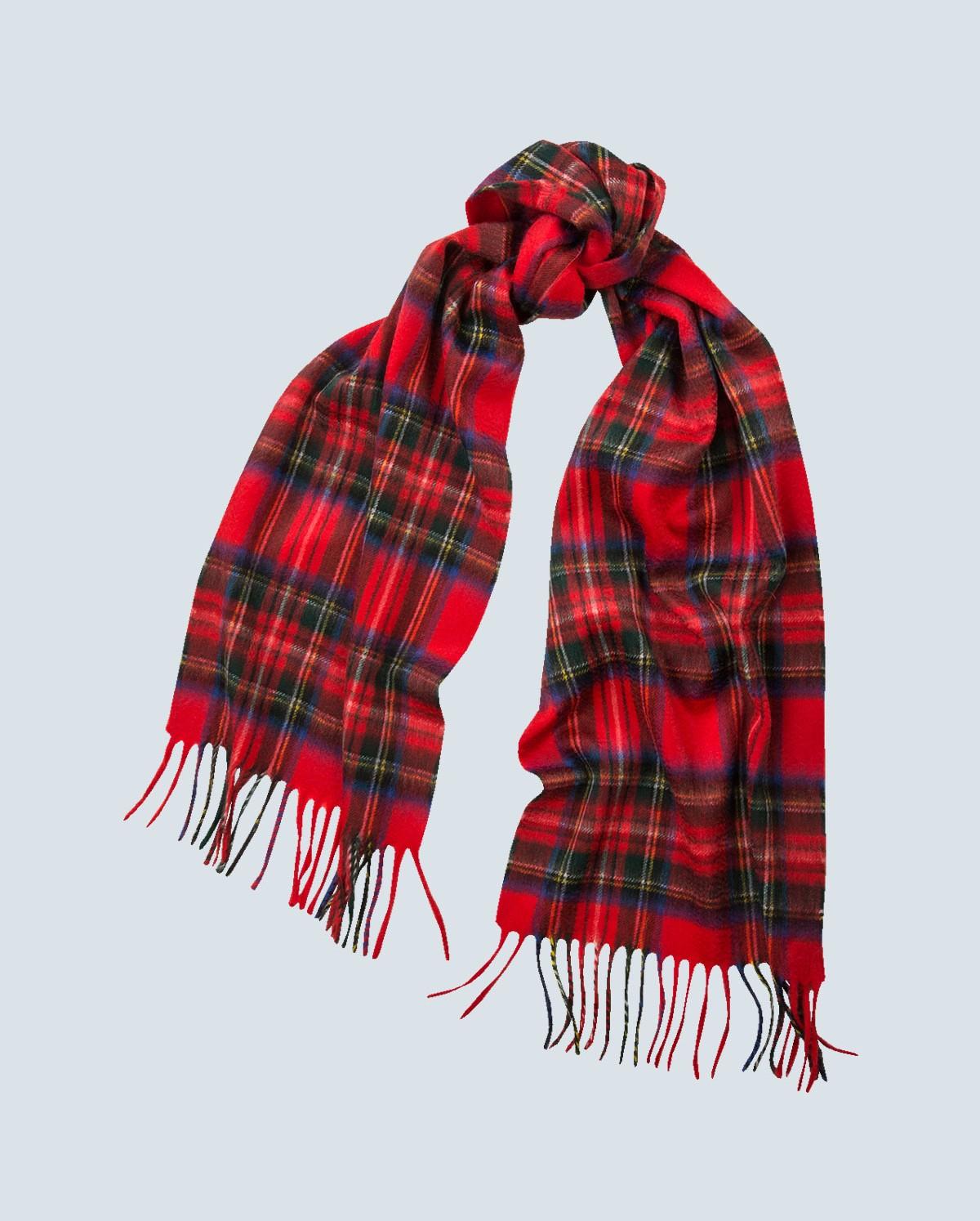 tartan scarf tartan 100% cashmere scarf royal stewart tiusnwy