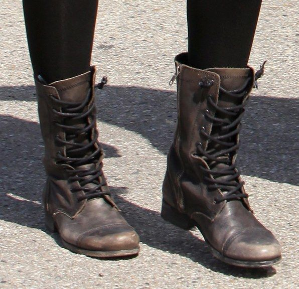 the hottest trend in footwear: combat boots! keep your eyes peeled, you just duloflm