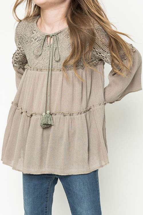 tunic top hayden-girls-lace-tunic-top-in-olive-g3212- thzcjjn