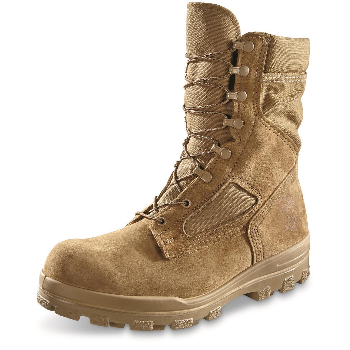 u.s.m.c. military surplus temperate weather waterproof combat boots, new cerclox