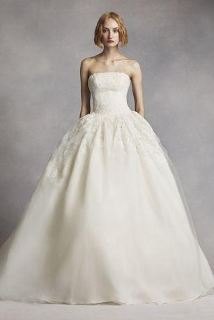 vera wang dresses long ballgown modern chic wedding dress - white by vera wang avdekex