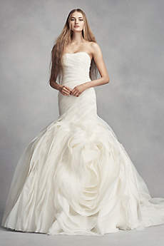 vera wang dresses long mermaid/ trumpet modern chic wedding dress - white by vera wang vzwvbcn