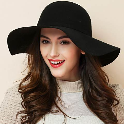 vintage floppy hat bow decorated bowler hat for women mqmhryt