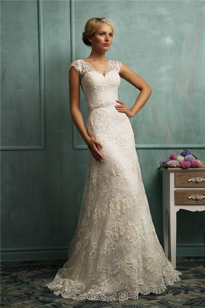 vintage lace wedding dresses fitted a line cap sleeve illusion back vintage lace wedding dress uaprsmc