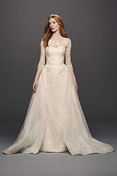 vintage lace wedding dresses long ballgown vintage wedding dress - oleg cassini rzptbwc