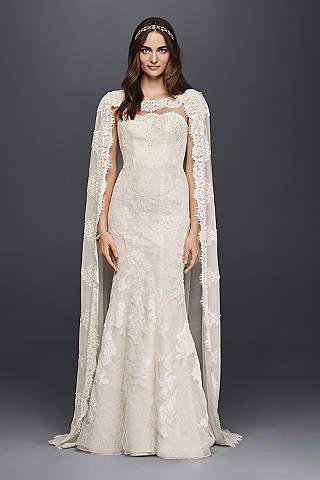 vintage lace wedding dresses long sheath vintage wedding dress - oleg cassini · oleg cassini hzcyjdb